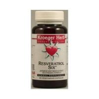 Kroeger herb resveratrol six capsules -  60 ea