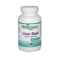 NutriCology Liver Beef Natural Glandular - 125 veg capsules