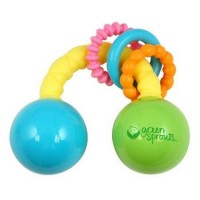 Green sprouts rattle rainbow unisex 3 months - 1 ea