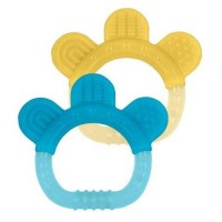 Green sprouts teether sili paw aqua and yellow - 2 Pack