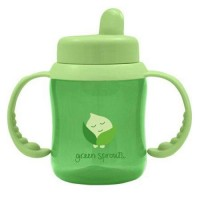 Green sprouts sippy cup flip top green - 1 ea