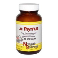 Natural sources all thymus - 60 ea, 2pack