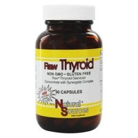 Natural sources raw thyroid - 90 Capsules