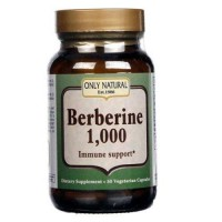 Only natural berberine 1000 mg vegetarian capsules - 50 ea
