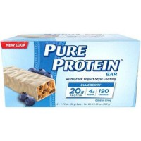 Pure protein blueberry protein bars with greek yogurt style coating pack of 6 - 1.76 oz