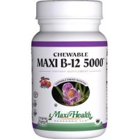 Maxi health kosher vitamins maxi b12 5000 chewable tablets - 60 ea