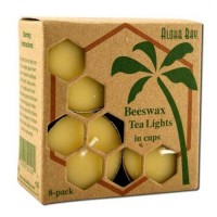 Aloha bay palm wax candles beeswax candles - 8 ea