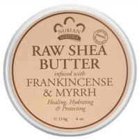 Nubian heritage raw shea butter infused with frankincense and myrrh - 4 oz
