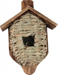 Songbird Essentials hanging grass roosting pocket with roof - 11 inch, 60 ea