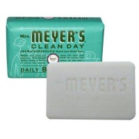 Mrs. Meyers bar soap basil - 5.3 oz,12 pack