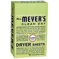 Mrs.meyers clean day dryer sheets lemon verbena - 80 ea, 12 pack