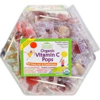 Organic vitamin c lollipops jar 125 count - 150 ea
