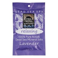 One with nature pure active dead sea minerals salts relaxing lavender - 2.5 oz ,6 pack