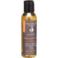 Soothing touch bath body and massage oil ayurveda sandalwood rich and exotic - 4 oz