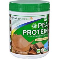 Growing naturals pea protein powder chocolate power - 1 ea,15.8 oz