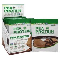 Growing naturals raw pea protein chocolate power - 12 Packet(s),1.9 oz