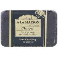 A La Maison de provence hand & body bar soap, charcoal - 8.8 oz