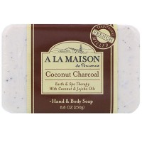 A La Maison de provence and & body bar soap, coconut charcoal - 8.8 oz