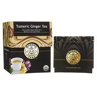 Buddha teas turmeric ginger tea organic herbs tea bags- 18 ea, 6 pack