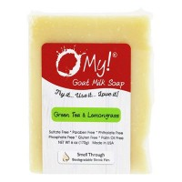 O My! green tea & lemongrass goat milk soap - 6 oz