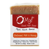 O My! mini o!s goat milk soap oatmeal, milk & honey - 3 oz
