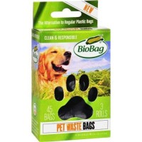 Biobag dog waste bags on a roll - 45 ea,12 pack