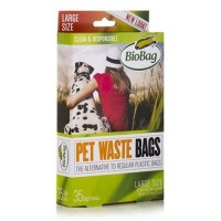 Pet waste bags large size (9.8 In x 12.6 In x 0.9 Mil) - 35 ea