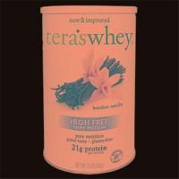 Tera'S whey rbgh free bourbon vanilla whey protein -12 oz