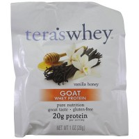 Tera's whey goat whey protein powder vanilla honey - 1 oz, 12 pack