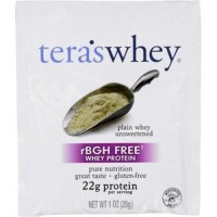 Teras whey protein powder whey rbgh free plain unsweetened - 1 oz ,12 pack