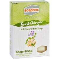 Soapbox bar soap elements tea and ginger - 1 ea,5 oz