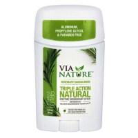 Via Nature Triple Action Natural Enzyme Deodorant Stick - 2.25 oz