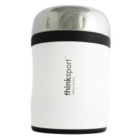 Thinksport go4th insulated food container with spork, white - 12 oz
