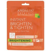 Hydro serum facial mask brightening andalou naturals - 0.6 oz ,6 pack