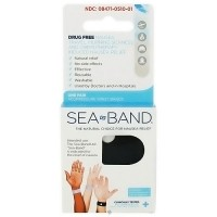 Sea band travel and morning sickness relief acupressure wrist bands - 1 pair