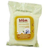 Blum naturals dry and sensitive skin daily cleansing towelettes with chamomile - 30 ea ,3 pack