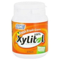 Epic dental xylitol sweetened gum fresh fruit - 50 ea