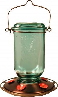 Classic Brands - Humming mason jar glass hummingbird feeder - 25 oz, 4 ea
