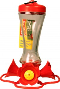 Classic Brands - Humming stokes impatiens glass hummingbird feeder - 8 oz, 4 ea