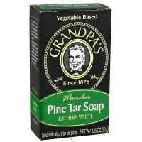 Grandpas wonder pine lathers white tar bath bar soap - 3.25 oz