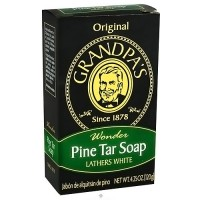 Grandpas wonder pine tar bath bar soap, Lathers white - 4.25 oz