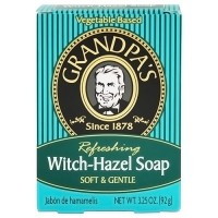 Grandpas refreshing witch hazel bath bar soap, soft and gentle - 3.25 oz