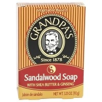 Grandpas Sandalwood Soap with Shea Butter and Ginseng - 3.25 oz