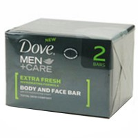 Dove men plus care extra fresh body and face bath bar - 2 ea