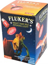 Flukers red spotlight basking bulb - 75 watt, 40 ea