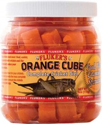Flukers orange cube-complete cricket diet - 6 ounce, 72 ea