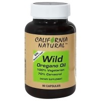 California Natural Wild Oregano Oil 100% Vegetarian Capsules - 90 ea