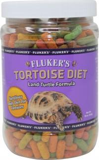 Flukers tortoise diet large pellet - 10 oz, 36 ea