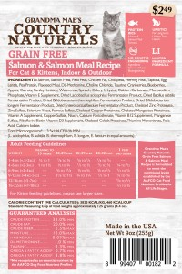 Grandma Mae S Country Nat grain free cat food - 3 lb, 6 ea