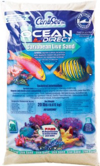 Caribsea Inc ocean direct original grade natural live sand - 40 pound, 1 ea